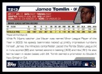 2004 Topps Traded #213 T  -  James Tomlin First Year Back Thumbnail