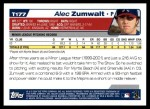 2004 Topps Traded #177 T  -  Alec Zumwalt First Year Back Thumbnail