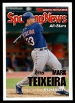 2005 Topps Update #147   -  Mark Teixeira All-Star Front Thumbnail