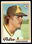 1978 Topps #116  Tucker Ashford  Front Thumbnail