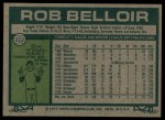1977 Topps #312  Rob Belloir  Back Thumbnail
