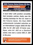 2005 Topps Update #217  Ryan Garko  Back Thumbnail