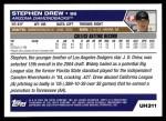 2005 Topps Update #311  Stephen Drew  Back Thumbnail