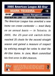 2005 Topps Update #181   -  Mark Teixeira All-Star Back Thumbnail