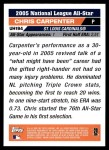 2005 Topps Update #194   -  Chris Carpenter All-Star Back Thumbnail