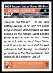 2005 Topps Update #214  Conor Jackson  Back Thumbnail