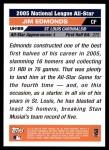 2005 Topps Update #189   -  Jim Edmonds All-Star Back Thumbnail
