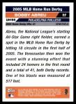 2005 Topps Update #195  Bobby Abreu  Back Thumbnail