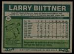 1977 Topps #64  Larry Biittner  Back Thumbnail