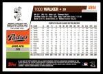 2006 Topps Update #64  Todd Walker  Back Thumbnail