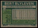 1977 Topps #630  Bert Blyleven  Back Thumbnail