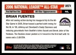 2006 Topps Update #274   -  Brian Fuentes All-Star Back Thumbnail
