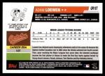 2006 Topps Update #167  Adam Loewen  Back Thumbnail