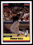 2006 Topps Update #224   -  Vernon Wells All-Star Front Thumbnail