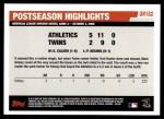2006 Topps Update #182   -  Mark Kotsay Postseason Highlights Back Thumbnail