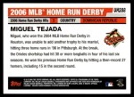 2006 Topps Update #288  Miguel Tejada  Back Thumbnail