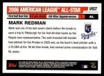 2006 Topps Update #237   -  Mark Redman All-Star Back Thumbnail