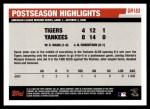 2006 Topps Update #183   -  Derek Jeter Postseason Highlights Back Thumbnail