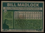 1977 Topps #250  Bill Madlock  Back Thumbnail