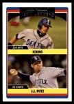 2006 Topps Update #320   -  Ichiro Suzuki / J.J. Putz Mariners Team Leaders Front Thumbnail