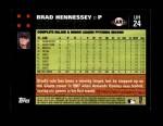 2007 Topps Update #24  Brad Hennessey  Back Thumbnail