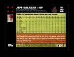 2007 Topps Update #22  Jeff Salazar  Back Thumbnail