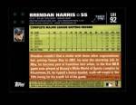 2007 Topps Update #92  Brendan Harris  Back Thumbnail