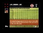 2007 Topps Update #6  J.D. Drew  Back Thumbnail