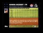 2007 Topps Update #136  Ramon Vazquez  Back Thumbnail