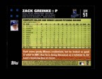 2007 Topps Update #51  Zack Greinke  Back Thumbnail