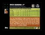 2007 Topps Update #122  Rich Harden  Back Thumbnail