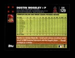 2007 Topps Update #129  Dustin Moseley  Back Thumbnail