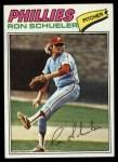 1977 Topps #337  Ron Schueler  Front Thumbnail