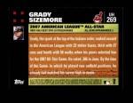 2007 Topps Update #269  Grady Sizemore  Back Thumbnail
