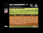 2007 Topps Update #168  Rick Vanden Hurk  Back Thumbnail