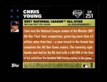 2007 Topps Update #251  Chris Young  Back Thumbnail