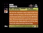 2007 Topps Update #246  Ben Sheets  Back Thumbnail
