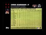 2007 Topps Update #317  Chris Schroder  Back Thumbnail