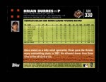 2007 Topps Update #330  Brian Burres  Back Thumbnail