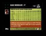 2007 Topps Update #324  Dan Wheeler  Back Thumbnail