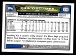 2008 Topps Updates #31  Marco Scutaro  Back Thumbnail