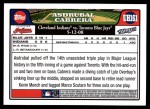 2008 Topps Updates #161   -  Asdrubal Cabrera  Highlights Back Thumbnail