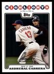 2008 Topps Updates #161   -  Asdrubal Cabrera  Highlights Front Thumbnail