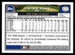 2008 Topps Updates #36  Xavier Nady  Back Thumbnail