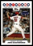 2008 Topps Updates #82   -  Joe Saunders All-Star Front Thumbnail