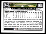 2008 Topps Updates #122  DeWayne Wise  Back Thumbnail