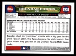 2008 Topps Updates #30  Brendan Harris  Back Thumbnail