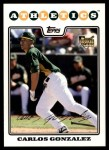 2008 Topps Updates #146  Carlos Gonzalez  Front Thumbnail