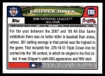2008 Topps Updates #5   -  Chipper Jones All-Star Back Thumbnail