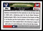 2008 Topps Updates #77   -  Ervin Santana All-Star Back Thumbnail